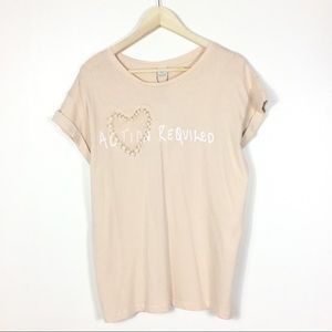Zara action required tee L NWT